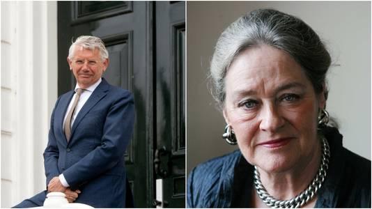 De voormalige burgemeesters van Overbetuwe Toon van Asseldonk en Elisabeth Tuijnman.