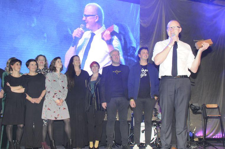 David en de starters binnen het Oud College namen de award van Evenement van het Jaar in ontvangst.