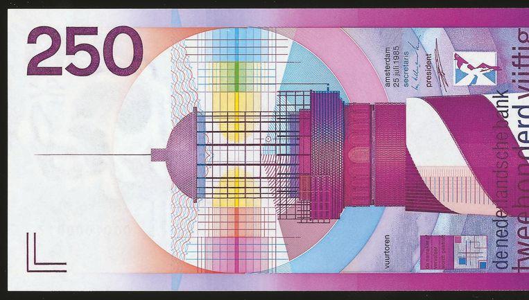 250 gulden-biljet Ootje Oxenaar, 1986 Beeld null