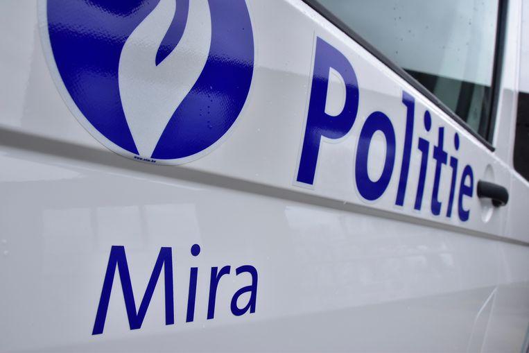 De politiezone Mira stond in voor de vaststellingen van het ongeval in de Jozef Duthoystraat in Waregem.
