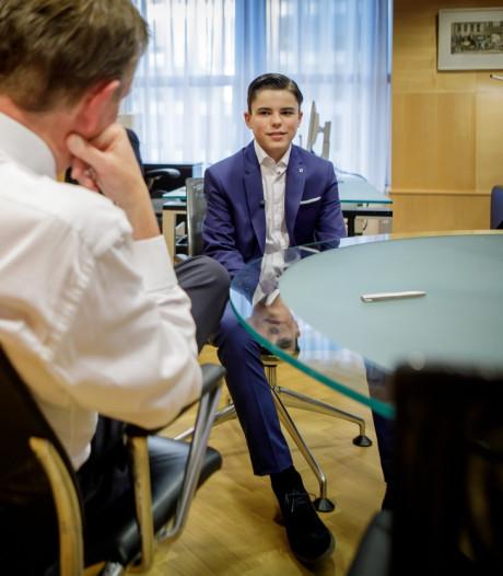 Nijmeegse Floris (13) benoemd tot kinderminister: 'Ik ben niet op mijn mondje gevallen'
