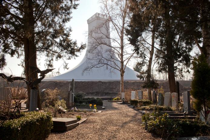 Het Crematorion op begraafplaats Zorgvlied.