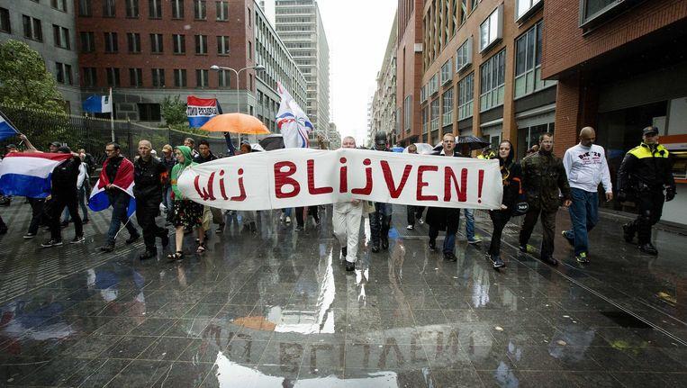 Pro Patria-demonstratie op 10 augustus. Beeld epa