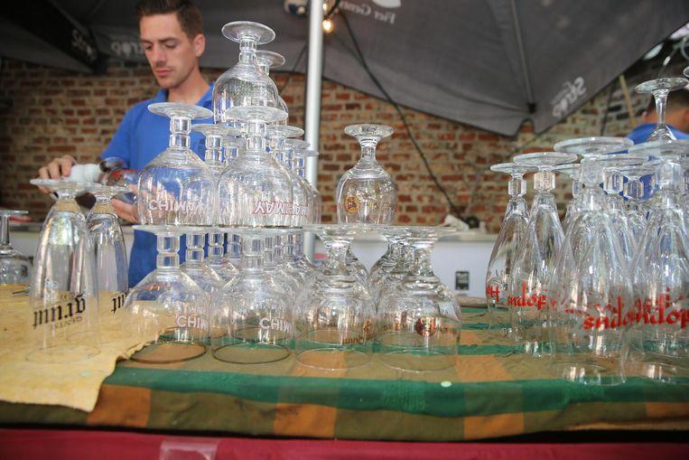 Geen herbruikbare bekers, maar glazen op de Patersholfeesten.
