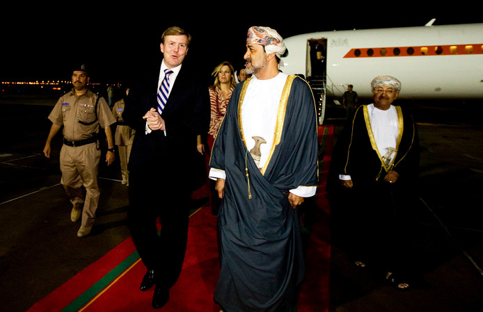 Willem-Alexander ontmoette de nieuwe sultan Haitham eerder tijdens een staatsbezoek in 2009.