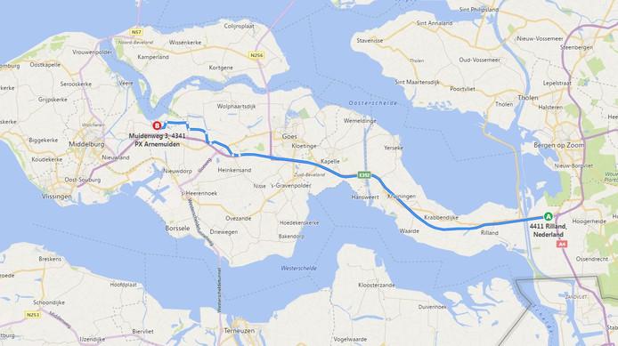 Bing wil er ook al af bij Heinkenszand en stuurt je over de Vlaamseweg.