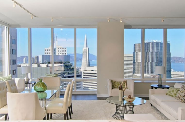 Een luxeappartement in de Millennium Tower