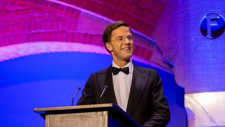 Mark Rutte op het Correspondents' Dinner Beeld anp