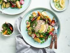 Wat Eten We Vandaag: Tartaar van haring met geroosterde peen en zeekraal