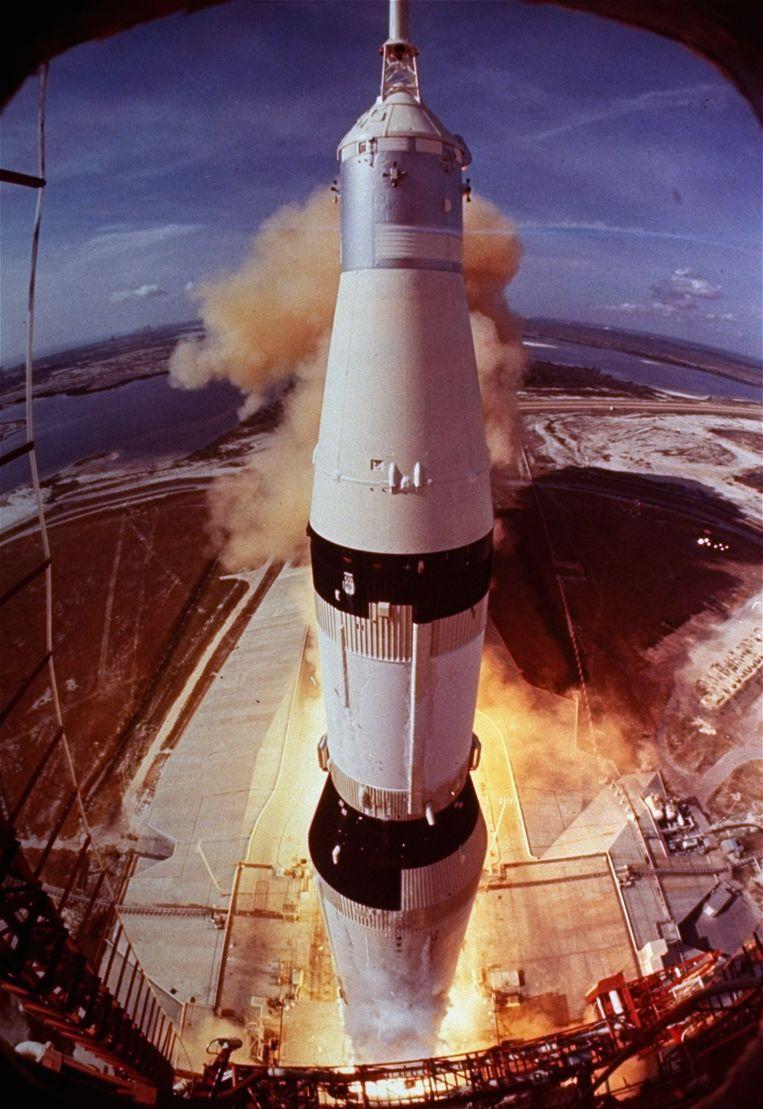 De lancering van de Apollo 11 op 16 juli 1969 Beeld AP