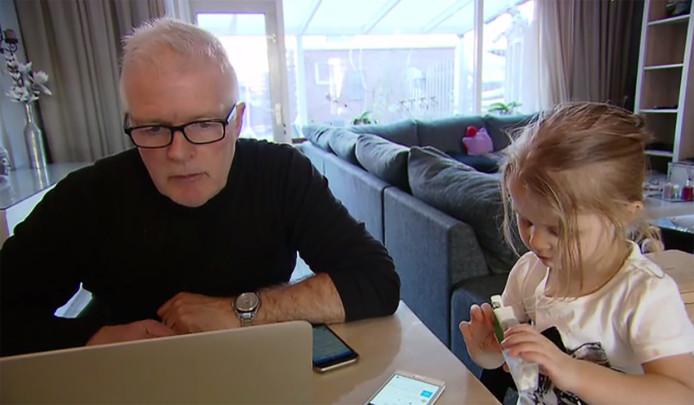 Peter Jan met dochter Djelisa (2).