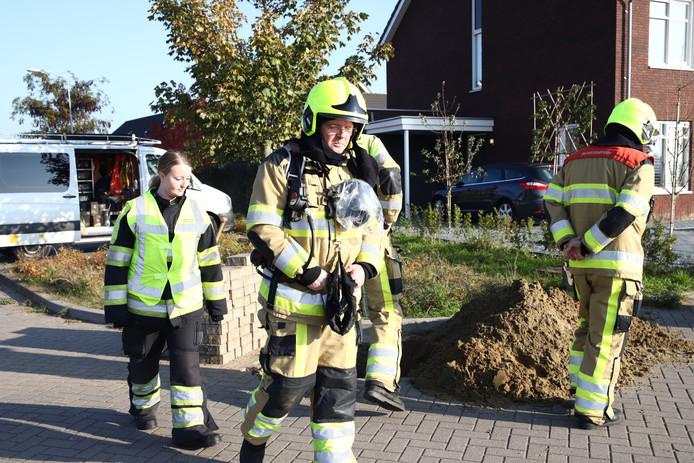 De brandweer was snel ter plekke in Tiel.