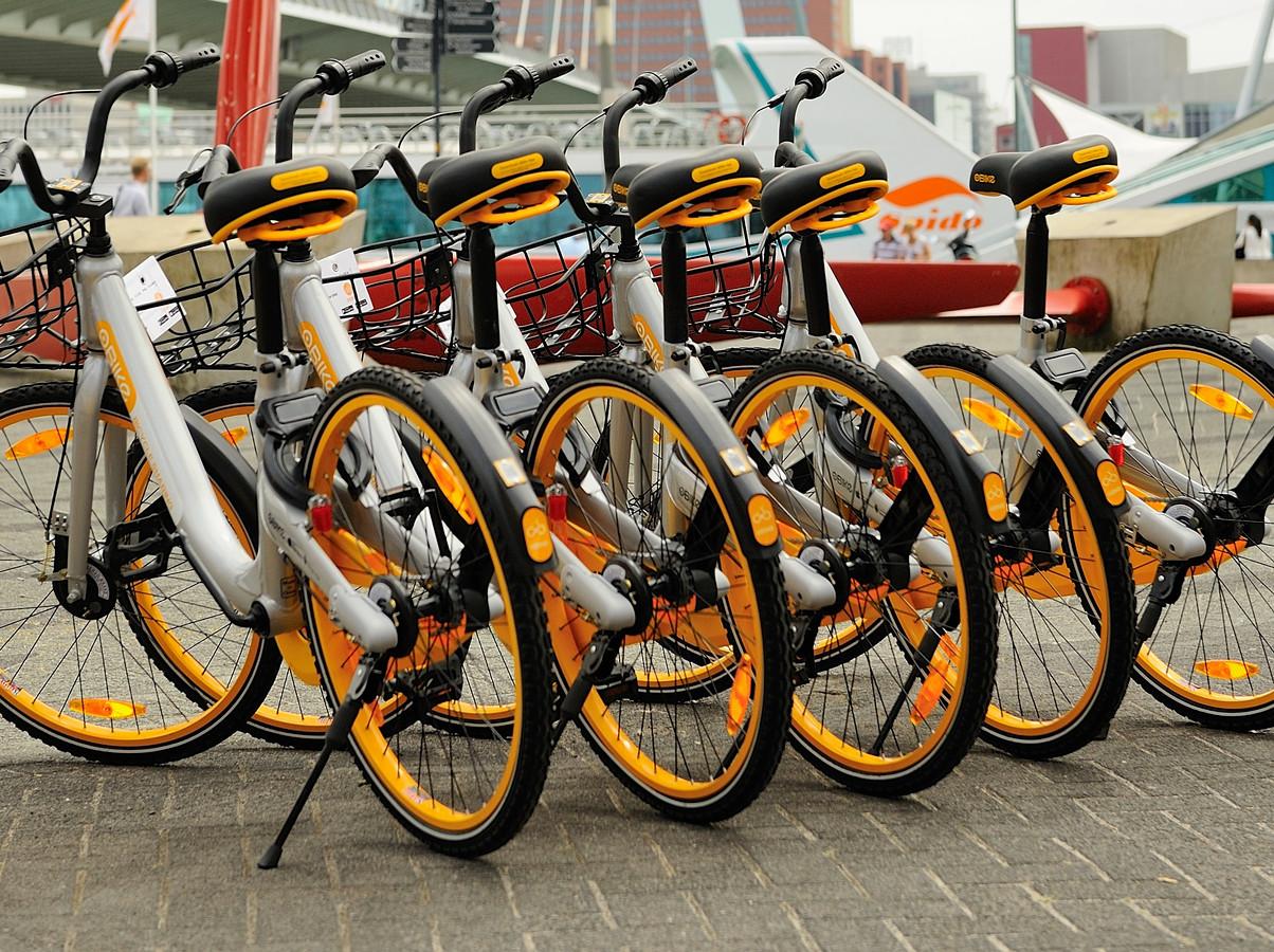 Deelfietsen in Rotterdam.
