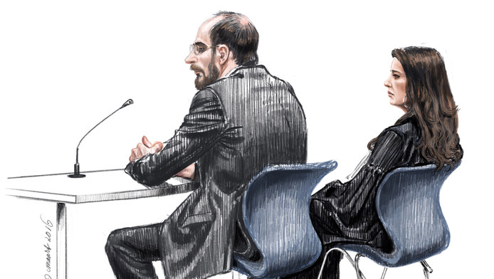 Bart van U. tijdens de vorige rechtszaak.