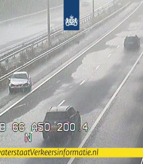 Eindelijk regen: ongeluk op A50