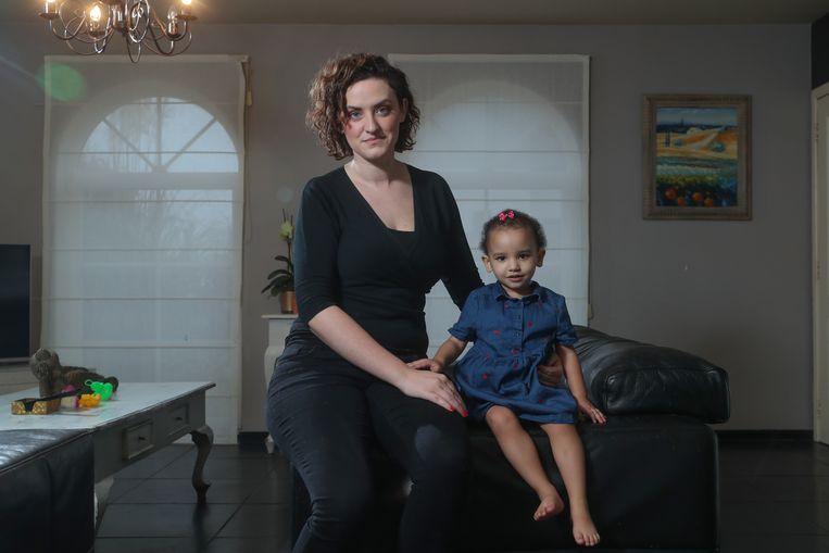 Gitte Van Der Elst, de moeder van het kind van Michy Batshuayi. Daya (kindje) *** Duffel, Belgie  - 24/01/2020 Photo News by Pieter-Jan Vanstockstraeten / Photo News ***