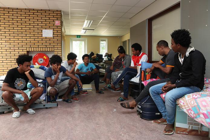 Vluchtelingen uit Eritrea.