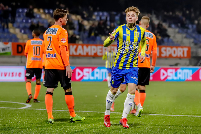 Emil Hansson precies een jaar geleden in het shirt van RKC.