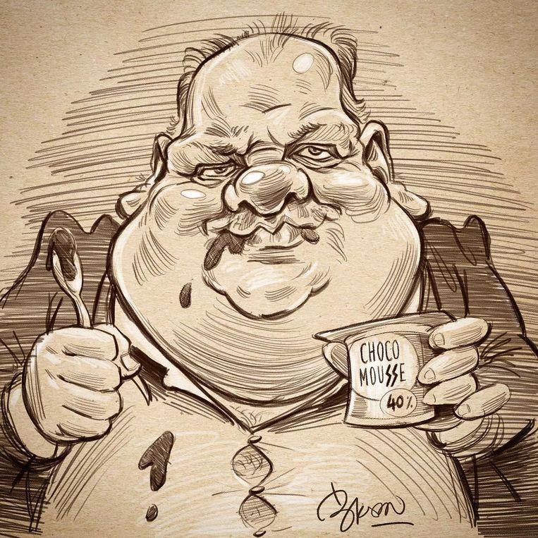 De karikatuur van Guy D'haeseleer door Bram De Baere.