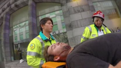 Nieuwe beelden tonen man die instorting stelling in Antwerpen overleefde