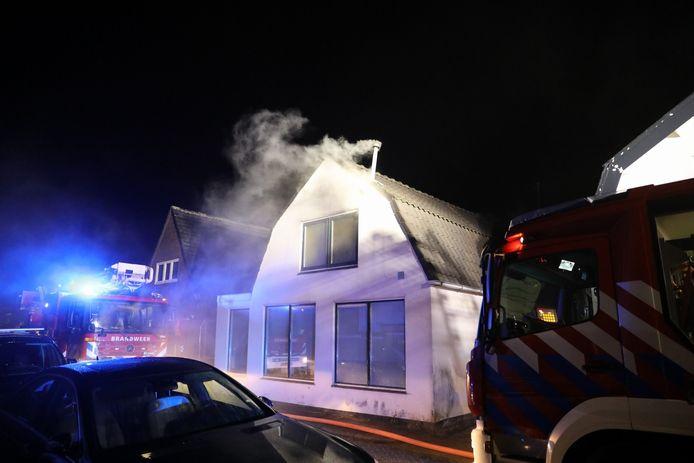 Brand in een woning aan de Sparrenlaan in Baarn.