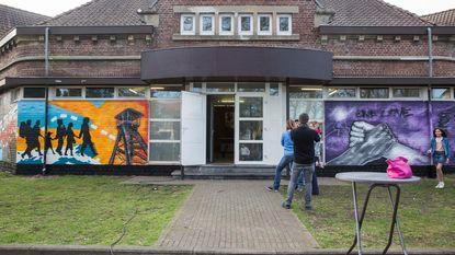 Graffitiartiesten fleuren jeugdhuis op met taferelen over Waterschei