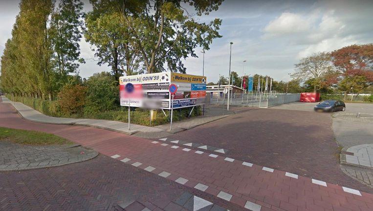 Voetbalclub Odin '59 in Heemskerk. Beeld Google Streetview