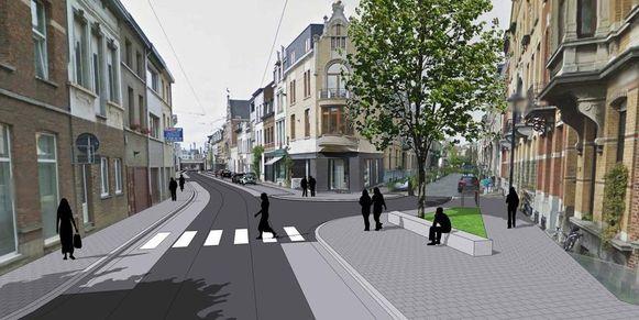 Toekomstbeeld van de Guldenvliesstraat.
