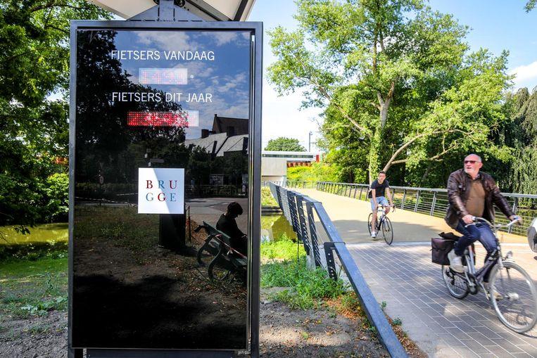 De fietsersbrug aan de Boeveriepoort.