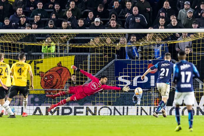 Brian Linssen maakt in de 72ste minuut op prachtige wijze de 1-1. Even lijkt Vitesse erop en erover te gaan, maar NAC toont veerkracht.