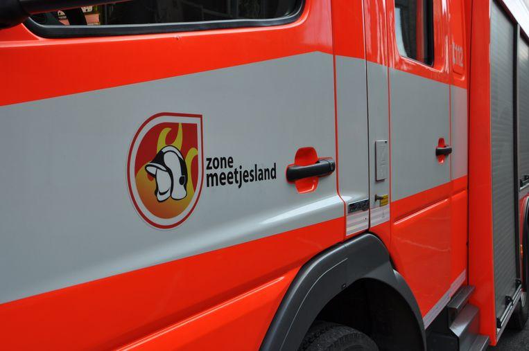 Brandweerzone Meetjesland kwam ter plaatse.