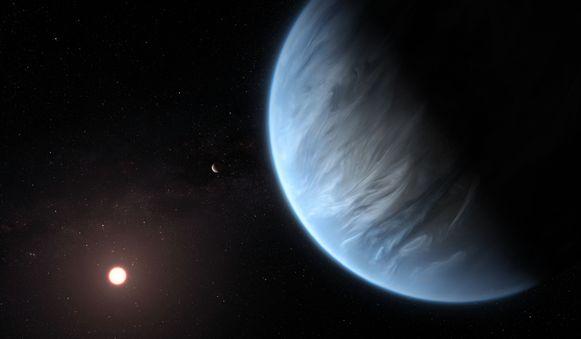 Het is de eerste keer dat waterdamp is gevonden in de atmosfeer van een exoplaneet met temperaturen zoals hier op aarde.