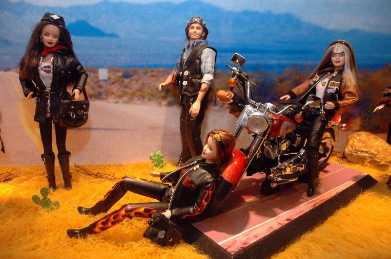 Harley Davidson-barbies Beeld