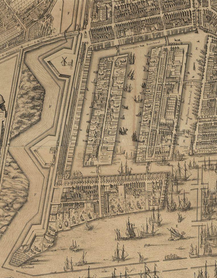 Uilenburg, Marken en Rapenburg, 1625. Beeld -