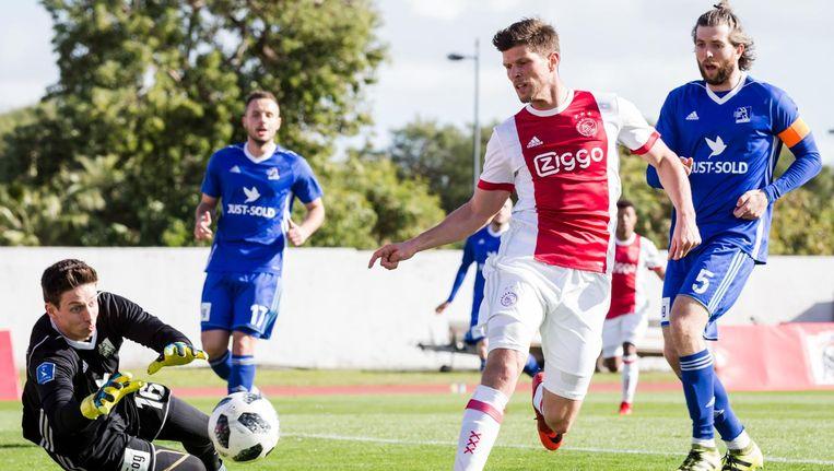 Klaas-Jan Huntelaar tekende zaterdag tegen het Deense Lyngby voor de 3-1 Beeld Erwin Spek/ProShots