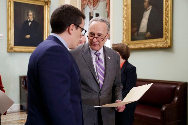 Chuck Schumer, leider van de Democraten in de Senaat. Beeld EPA