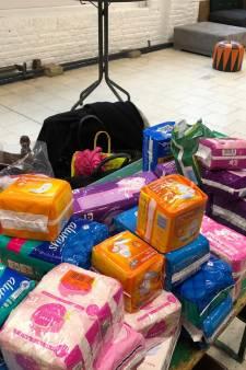 La récolte de serviettes hygiéniques a eu un franc succès à Charleroi