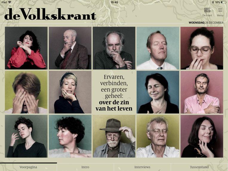 De Volkskrant tablet-editie van Tweede Kerstdag Beeld