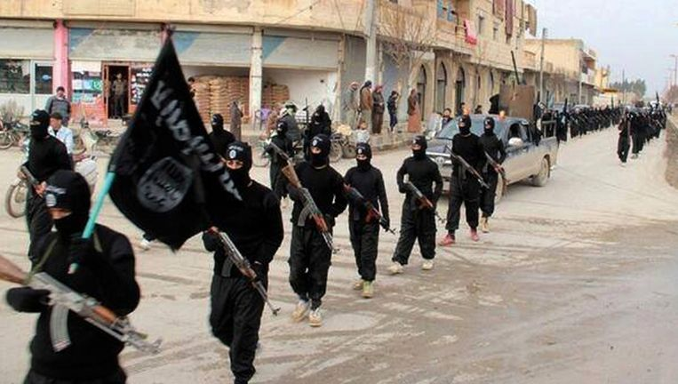 ISIS in de Syrische stad Raqqa. Beeld ap