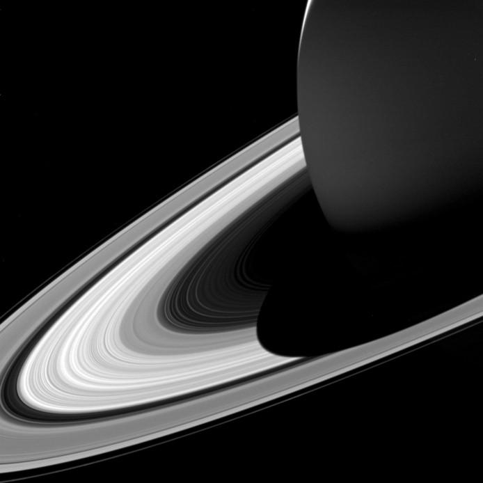 Beeld van Saturnus,  gemaakt door Cassini