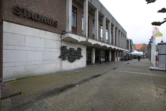 Het stadhuis van Hamont-Achel.