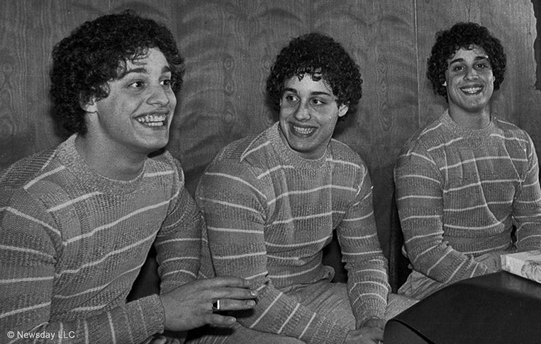 David Kellman, Robert Shafran, and Eddy Galland in Three Identical Strangers (2018). Beeld null