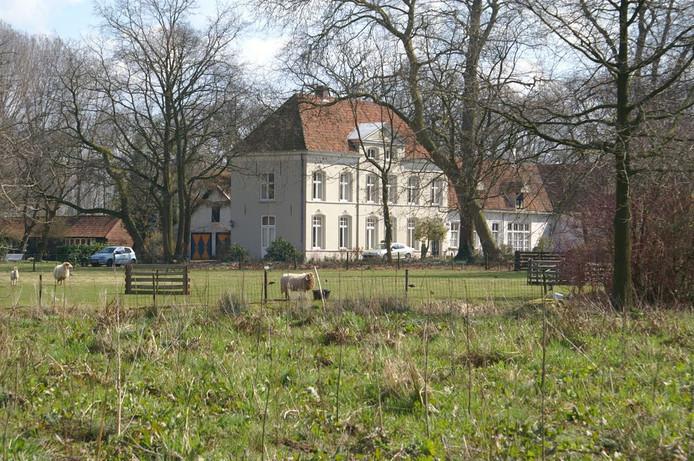 Bomen bij kasteel Eyckenlust in Beek en Donk.