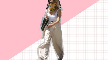 Sienna Miller gespot in beige broek van amper 39,99 euro (en jij kan hem ook nog shoppen!)