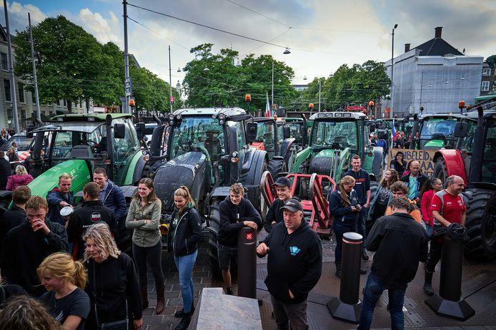 Boeren tijdens een demonstratie eerder deze maand op het Binnenhof in Den Haag.