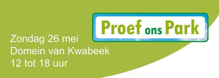 Proef ons park vindt zondag plaats in het domein Kwabeek