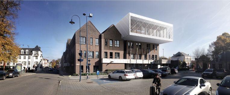 Buitenzicht van het vernieuwd gemeentehuis