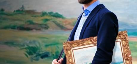 Brutale kunstdief haalt Renoir van de muur en loopt ermee veilinghuis uit