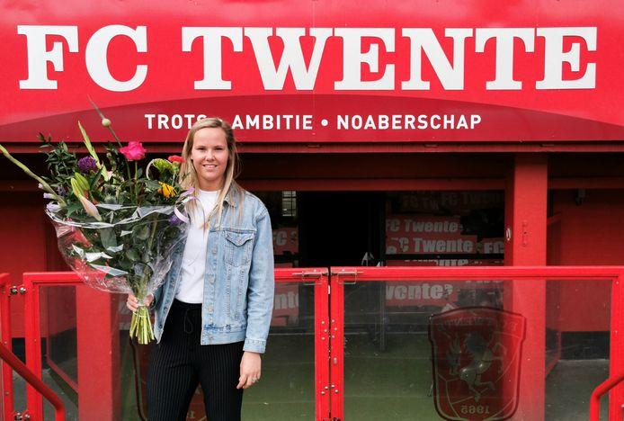 Jade Adan, keepster FC Twente Vrouwen.