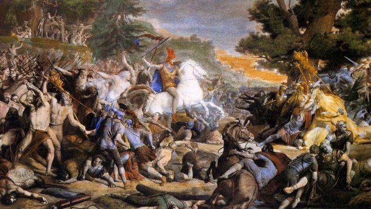 Herkomst van de Ariër-mythe: Arminius triomfeert in de slag bij het Teutoburgerwoud. Beeld Imageselect